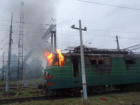 ВЧелябинской области зажегся грузовой поезд спропаном