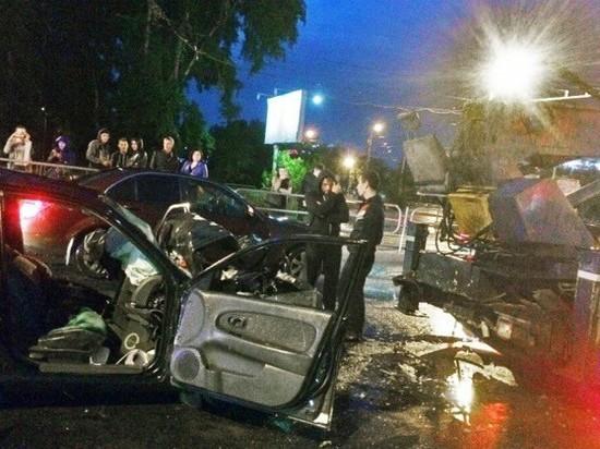 Жуткую аварию около монтажного колледжа устроил пьяный охранник парковки