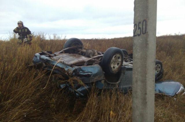 ВОктябрьском районе БМВ вылетел вкювет иперевернулся, шофёр умер