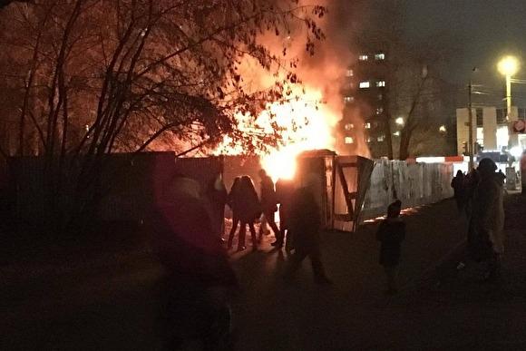 Пожар всауне под Челябинском едва непогубил четырех человек